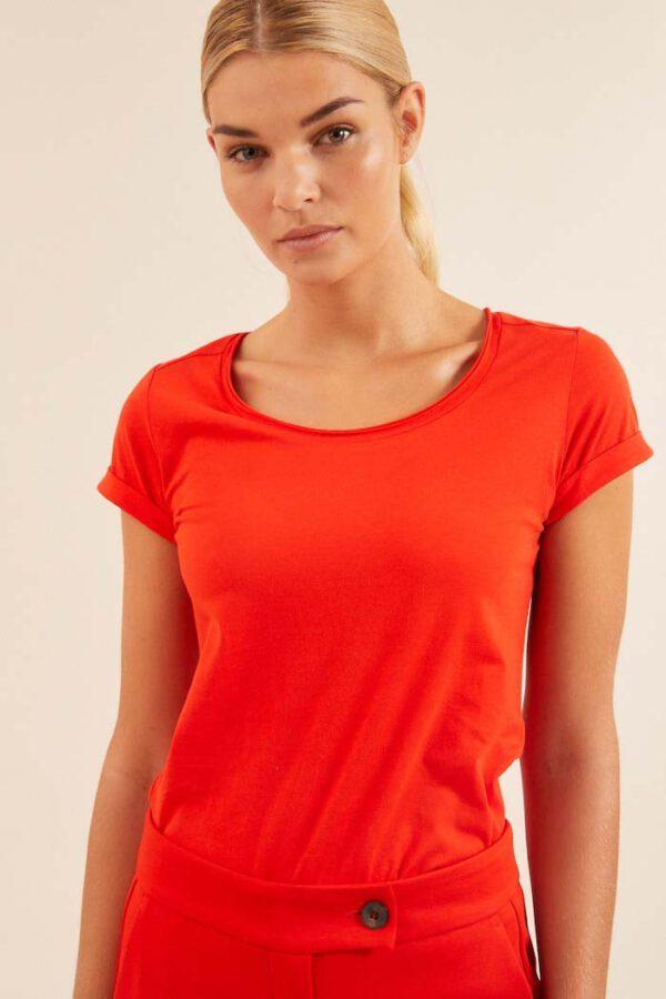 Dames T-shirt biologisch katoenLanius_melon12084_voorkant
