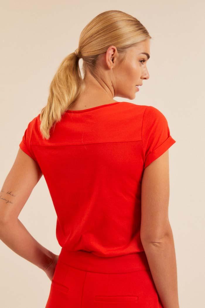 Dames T-shirt biologisch katoen_Lanius_melon12084_achterkant