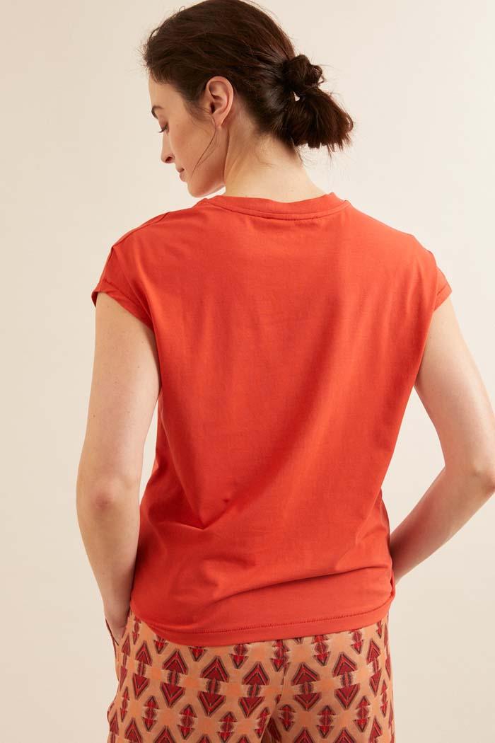 Dames T-shirt duurzaam rood_Lanius_redpepper12452_achterkant