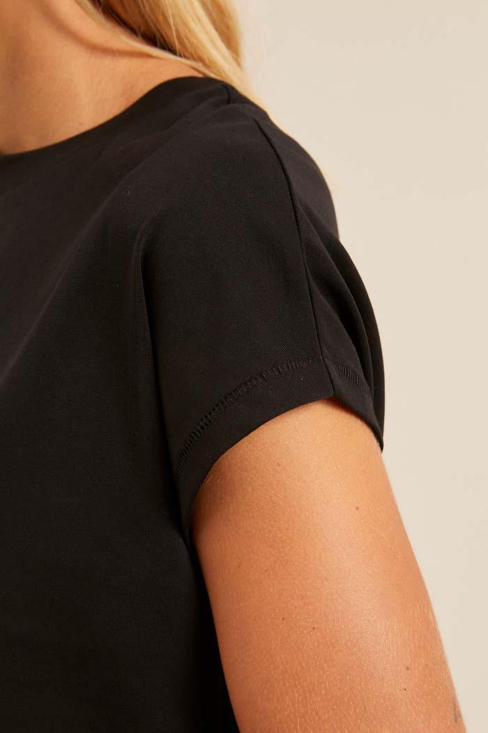 Dames T-shirt duurzaam zwart_Lanius12452zwart_mouw