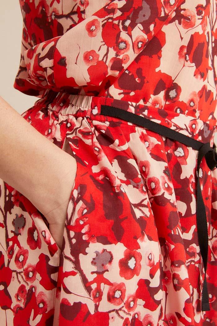 Lange rok duurzaam tencel_Lanius_rood12538_detail