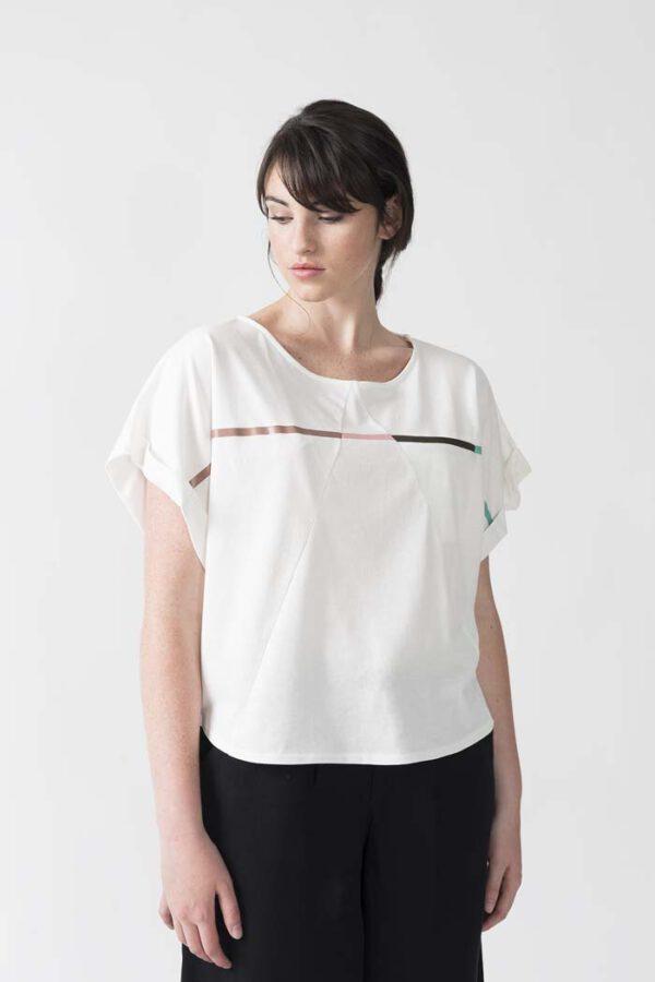 Duurzaam T-shirt wit IDURRE SKFK_voor
