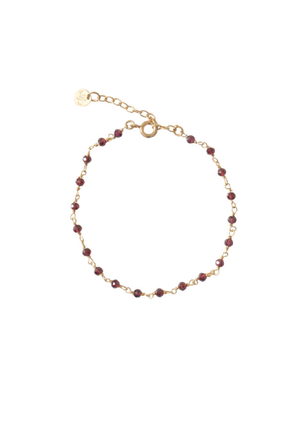 Armband A Beautiful Story_garnet gold_voor