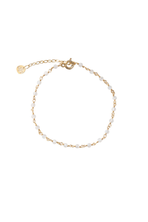 Armband A Beautiful Story_moonstone gold_voor