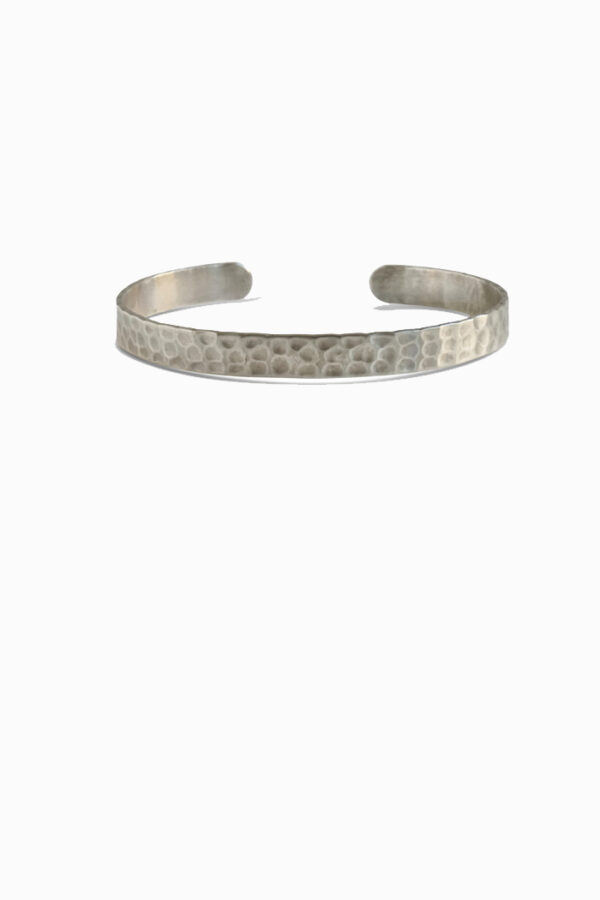 Duurzame armbanden_TING hammered_zilver
