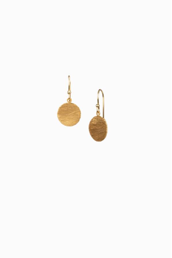 Duurzame oorbellen_Protsaah schijfjes goud