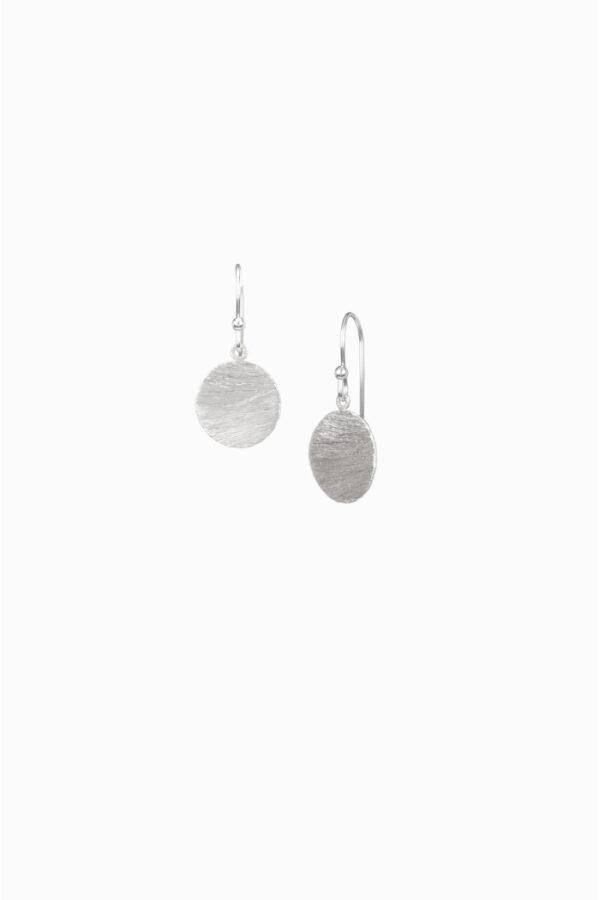 Duurzame oorbellen_Protsaah schijfjes zilver