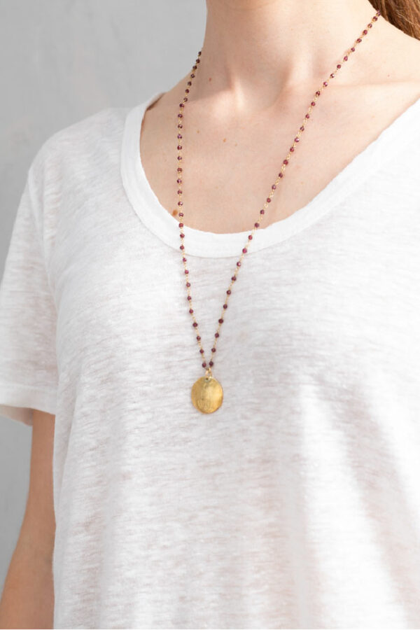 Ketting Rosary_A Beautiful Story_Garnet gold_model