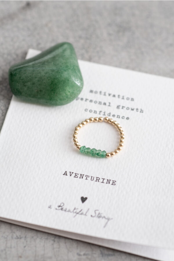 Ring A Beautiful Story_aventurine gold_steen