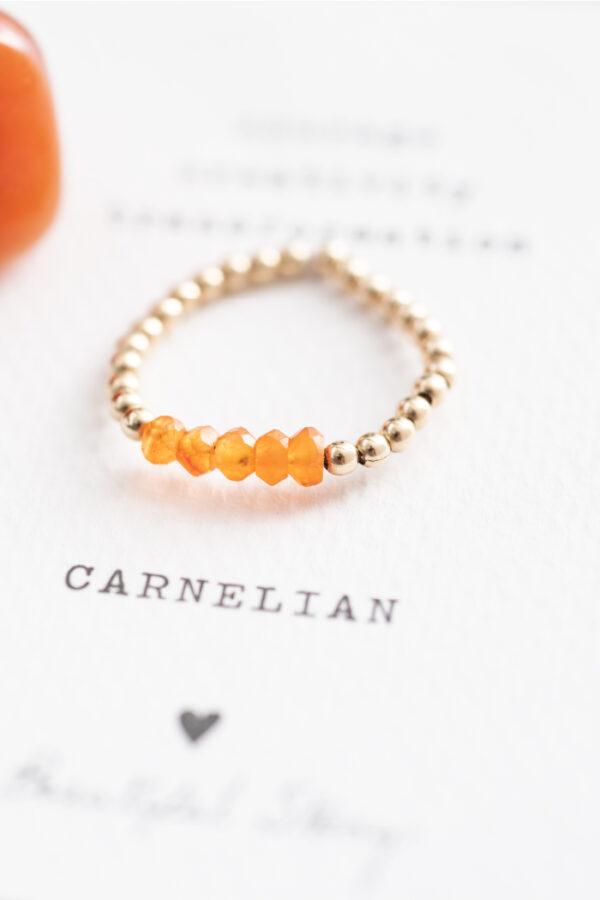 Ring A Beautiful Story_carnelian gold_steen