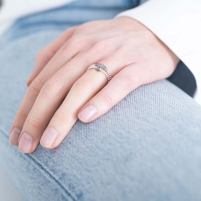 Ring A Beautiful Story_labradorite silver_model