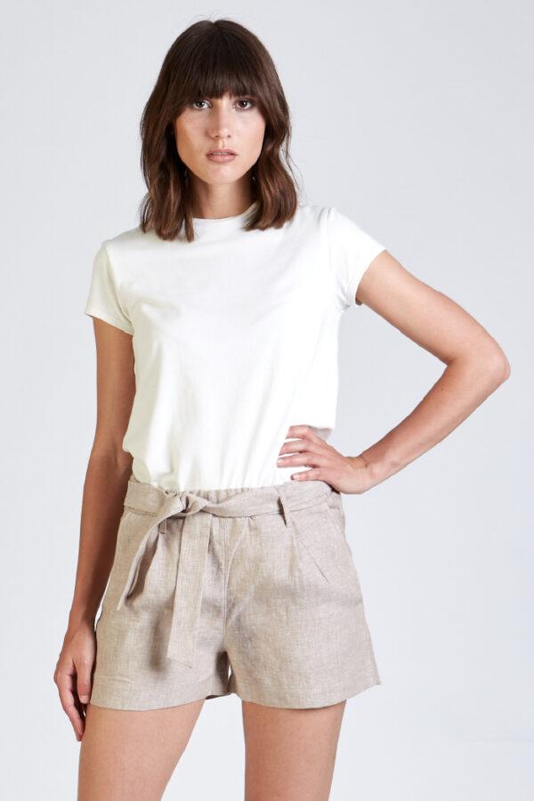 Shorts Jessica camel_Stoffbruch_closeup