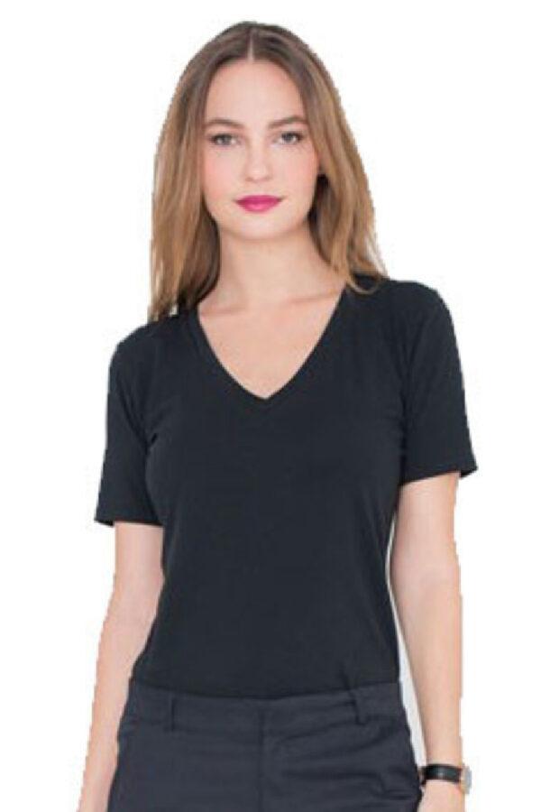 T-shirt Alex zwart_Miss Green_voor