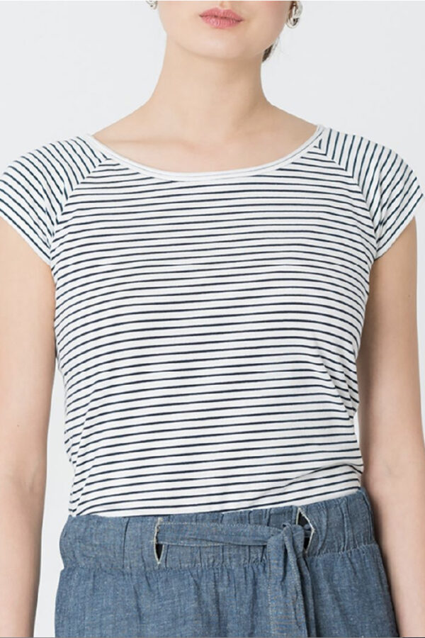 T-shirt Boogie nights_breton stripe summer_Miss Green