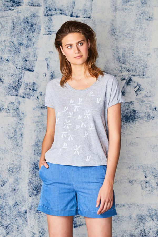 T-shirt Libelle_Paala_grijs_model