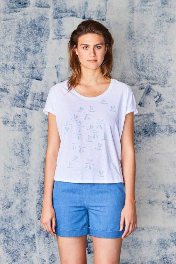 T-shirt Libelle_Paala_wit_model