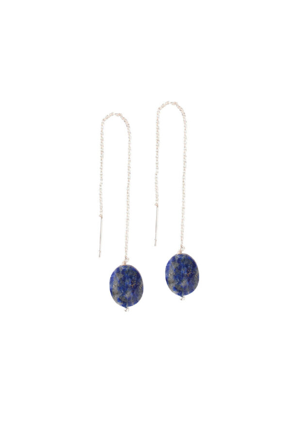 Oorbel Elegant_A Beautiful Story_Lapis Lazuli silver