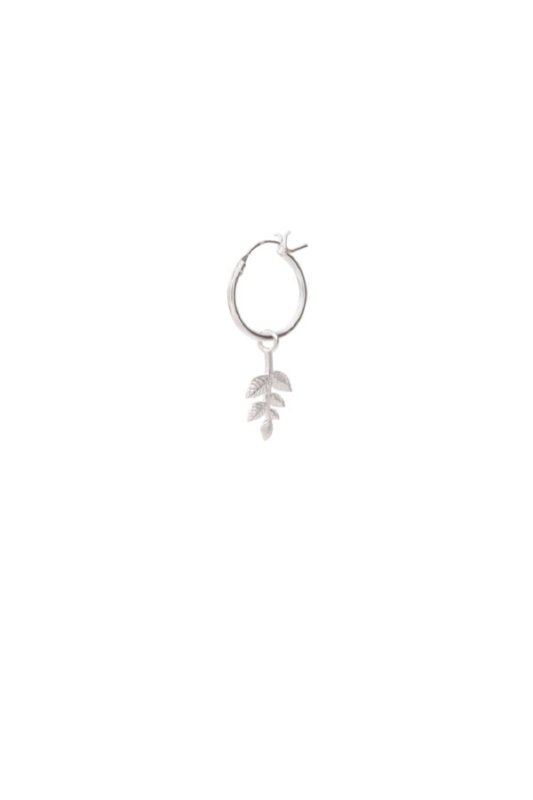 Oorbel Hoop Branch_silver_voor