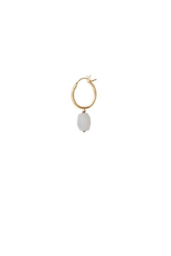 Oorbel Hoop Moonstone gold