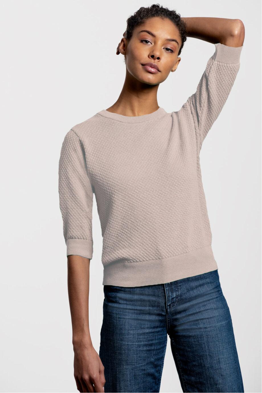 Summer Sweater_Loopalife_Nude_hoog