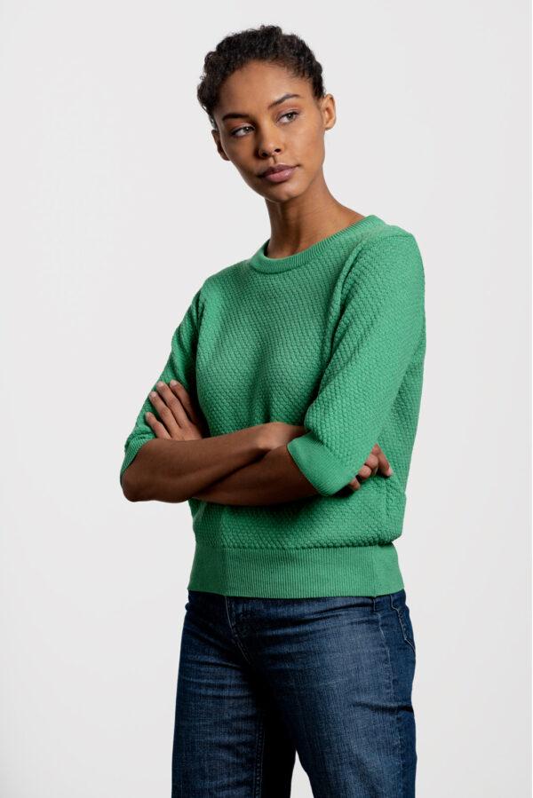 Summer Sweater_Loopalife_groen_zij
