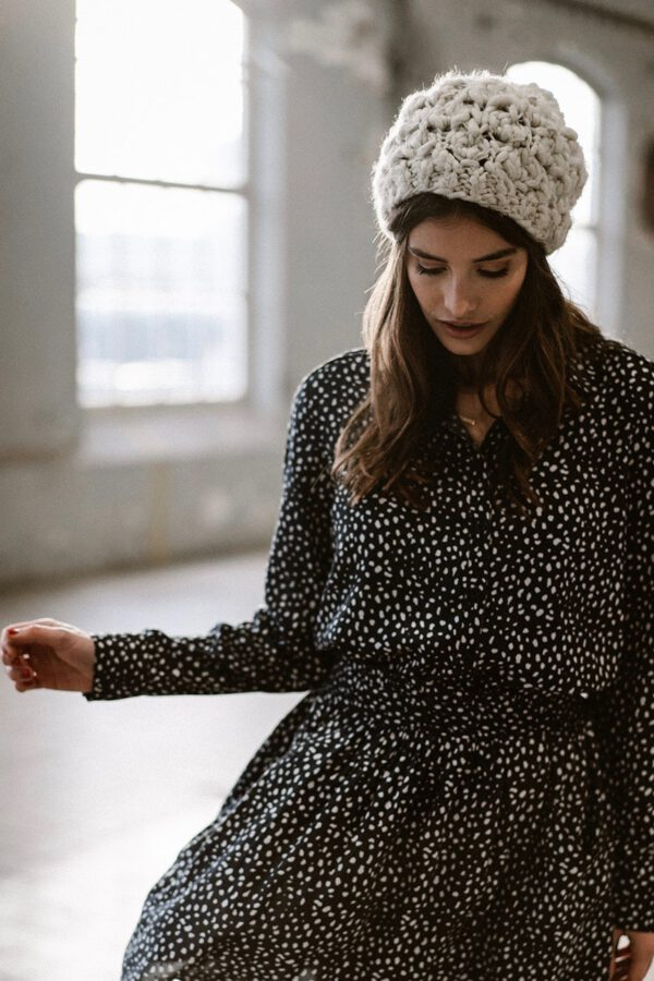 Blouse_Maya_J-LAB3L_animal dot print_zwart_model