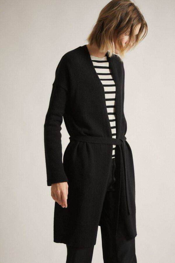 Vest met ceintuur_Lanius_zwart_zij