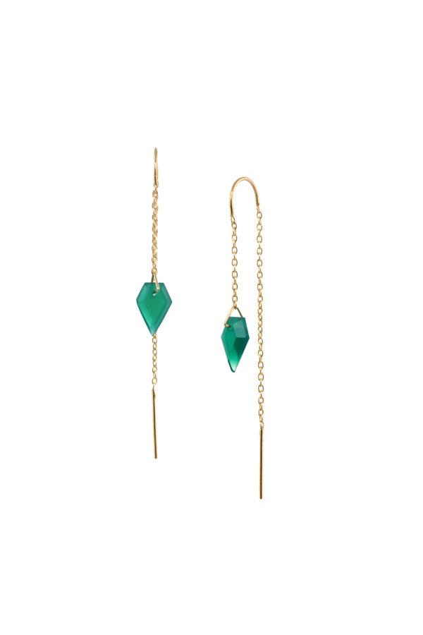 Oorbellen duurzaam_Diamond GO groen zilver_Protsaah