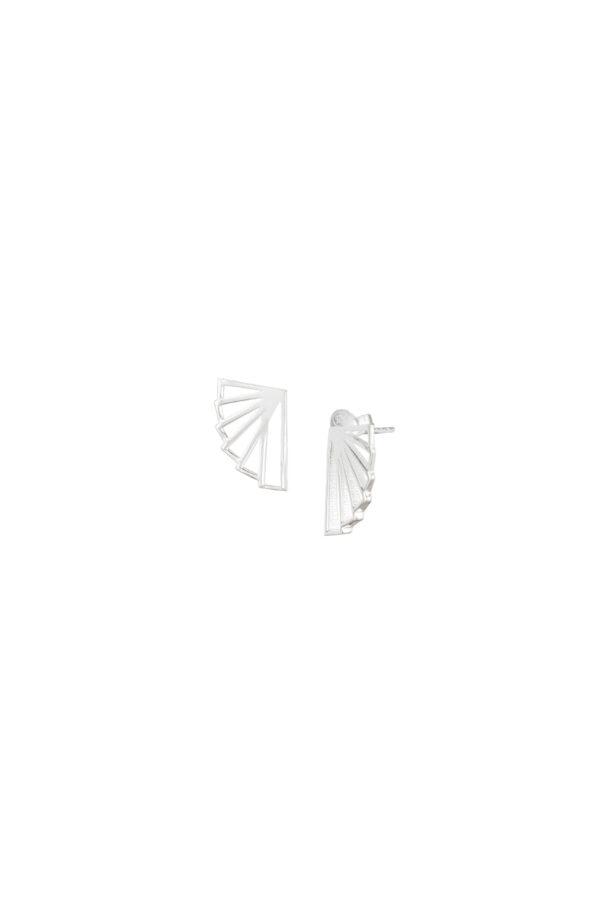 Oorbellen duurzaam_Fan Stud zilver_Protsaah_heel