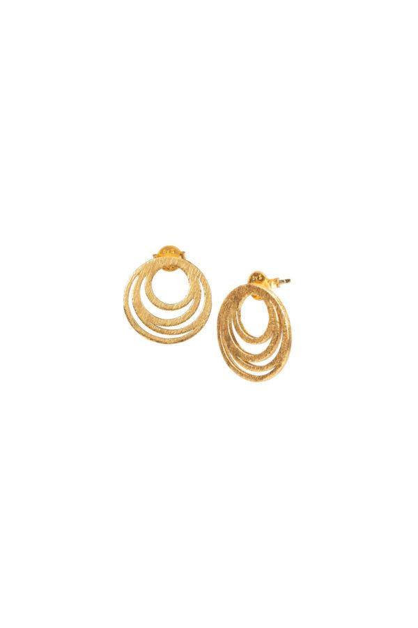 Oorbellen duurzaam_Intermingled Circles goud_Protsaah_heel
