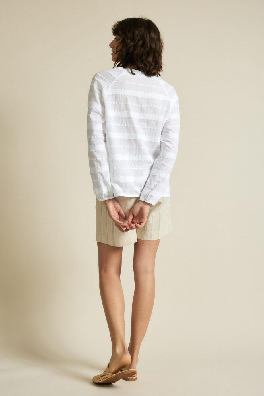 Lanius_Jaquard blouse_wit_achter