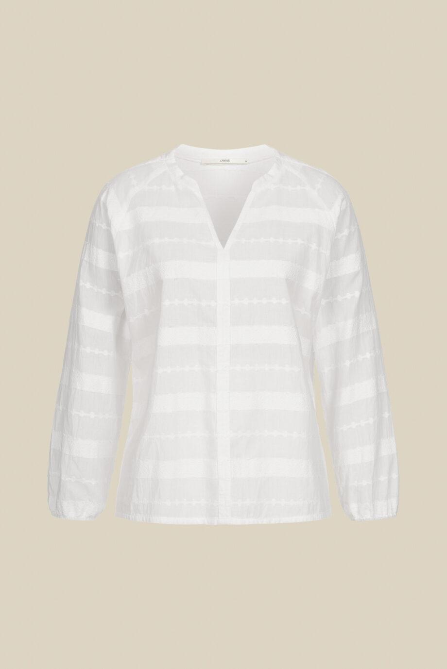 Lanius_Jaquard blouse_wit_los