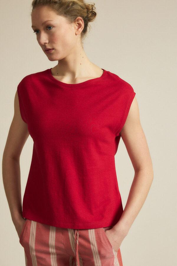 Lanius_Shirt doorlopende mouw_rood chili pepper_voor