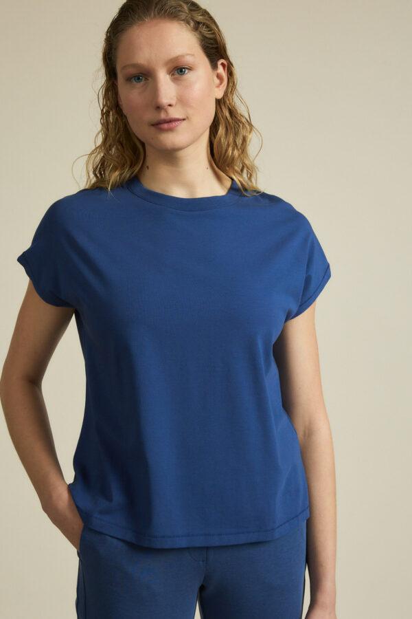 Lanius_T-shirt doorlopende mouw_blauw_voor