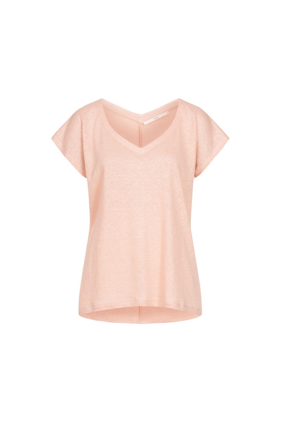 Lanius_Shirt v-hals GOTS_roze_pack