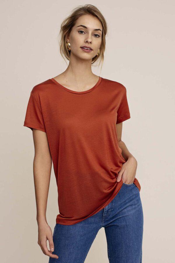 Arber Poplar T-shirt Cinnamon red_voor