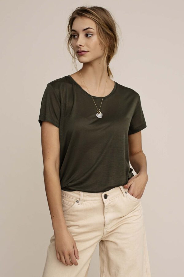Arber Poplar T-shirt olijfgroen_voor