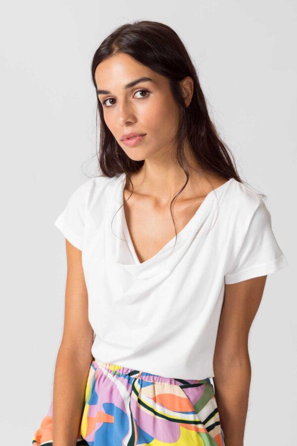 SKFK Bat t-shirt wit_voor