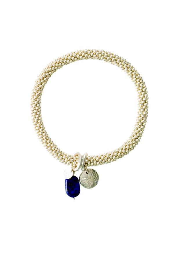 A Beautiful Story_Armband Jacky Lapis Lazuli silver_los