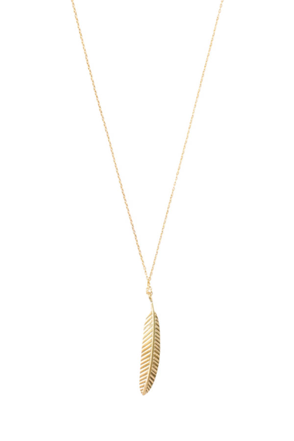 A Beautiful Story_Ketting Delicate Feather gold