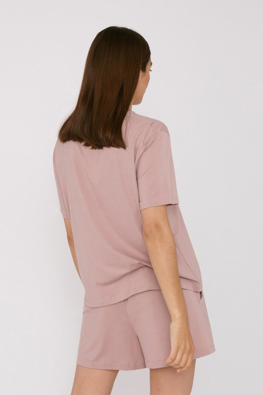 Organic Basics - T-shirt Tencel– Oud Roze_back