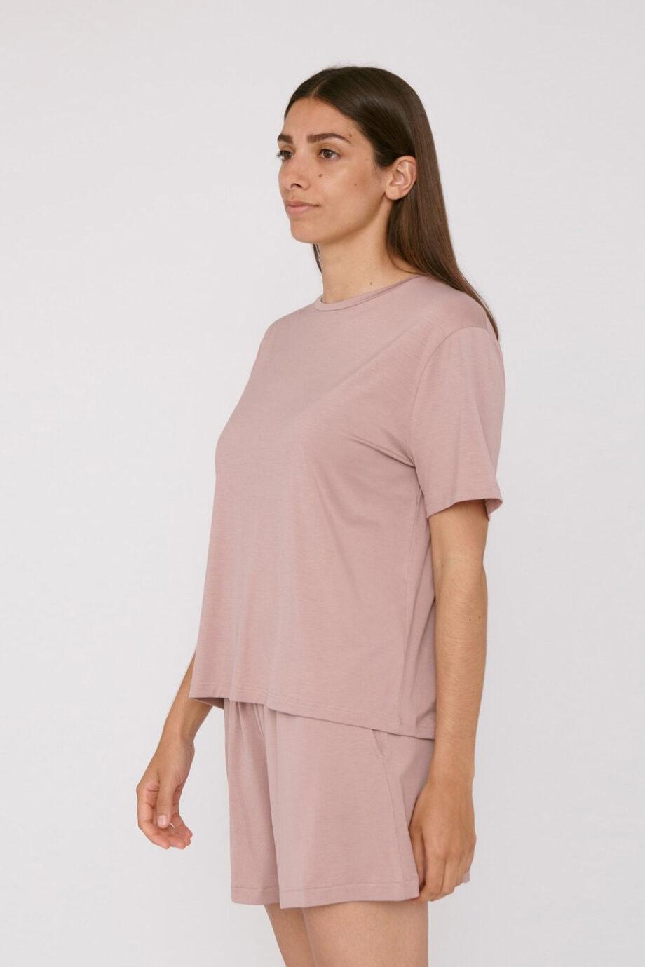 Organic Basics - T-shirt Tencel– Oud Roze_side