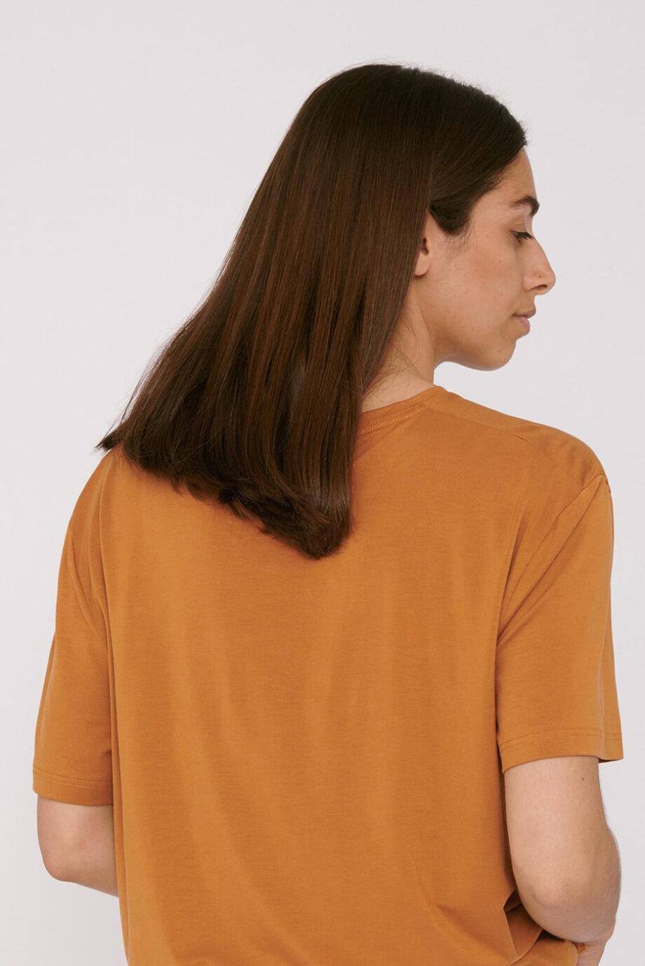 Organic Basics - T-shirt Tencel– geel_fit