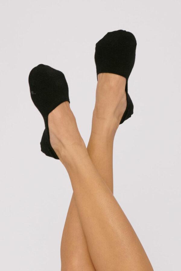 Organic Basics - no-show sokken – zwart_fit