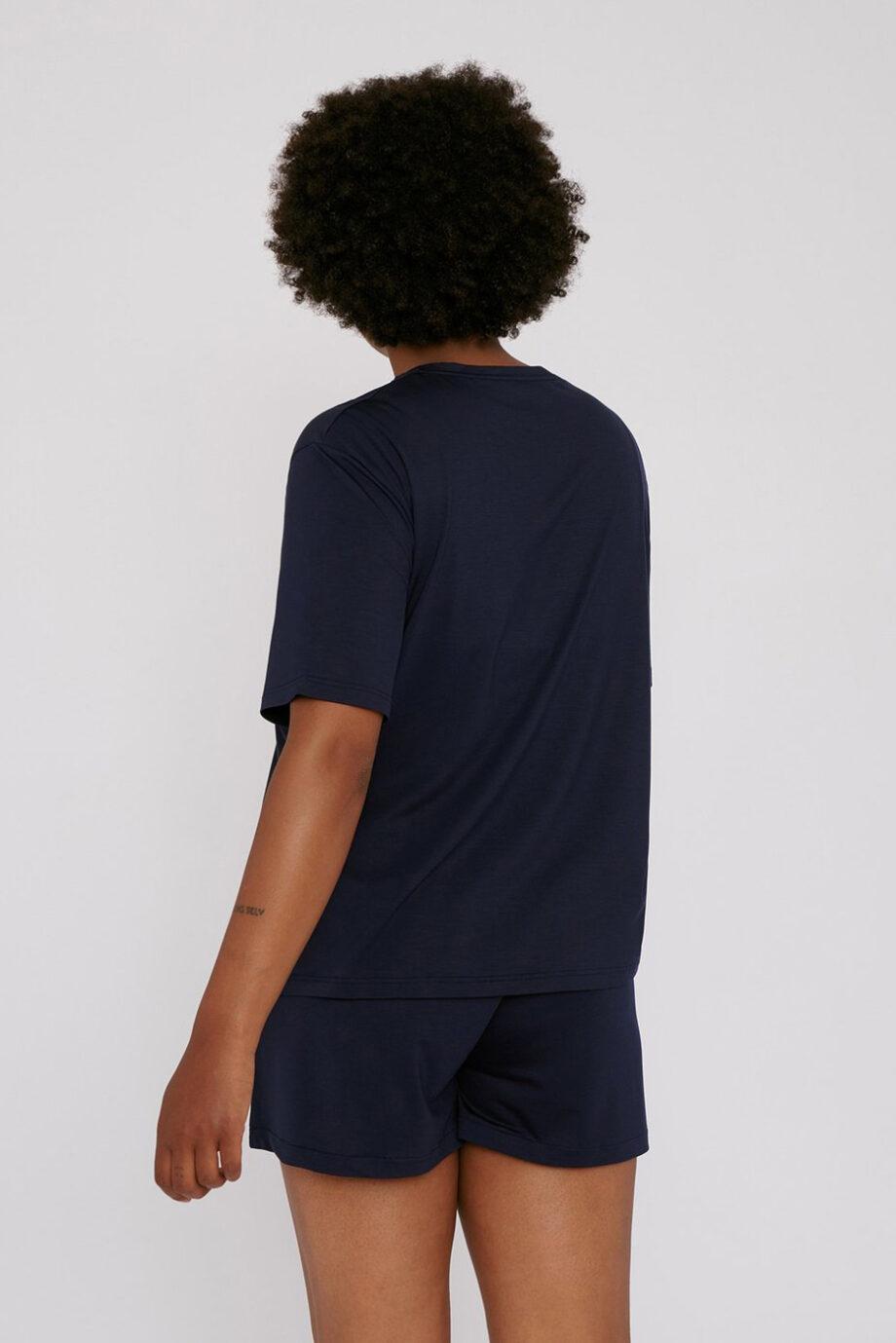 Organic Basics - shorts – navy_back