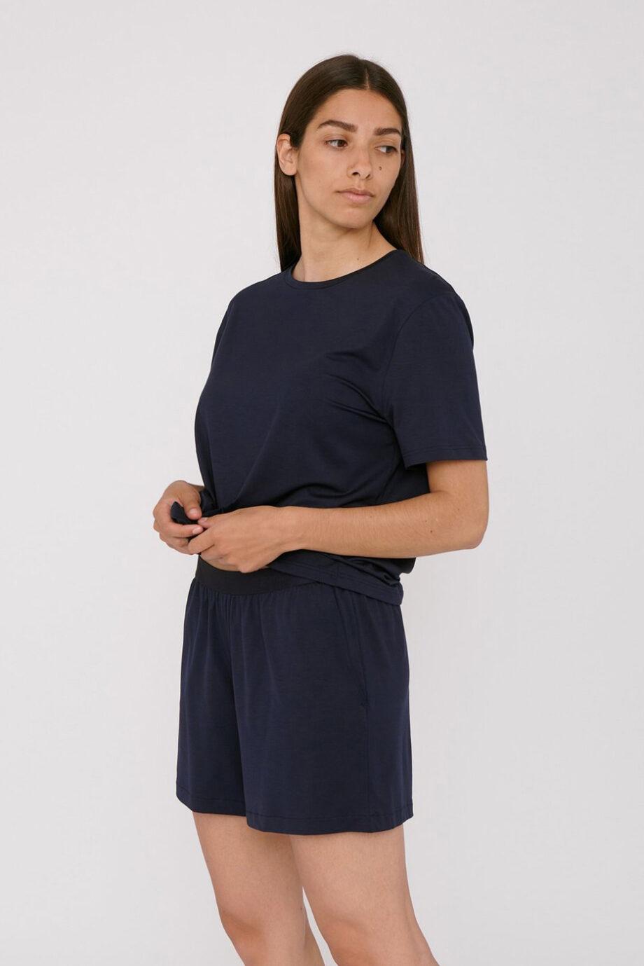 Organic Basics - shorts – navy_front
