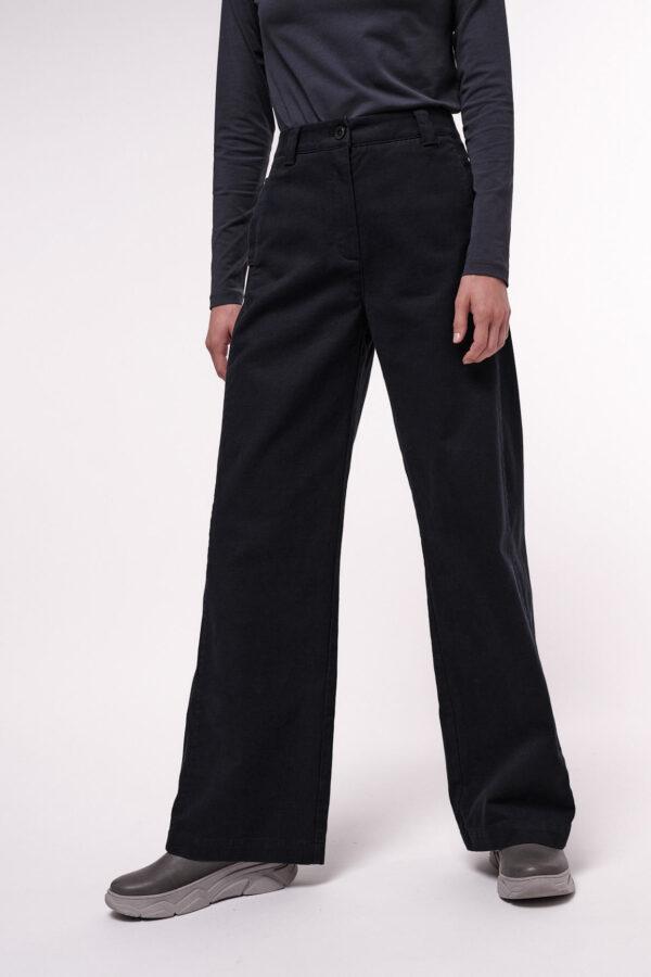 Lanius High waist Marlene broek midnight_model