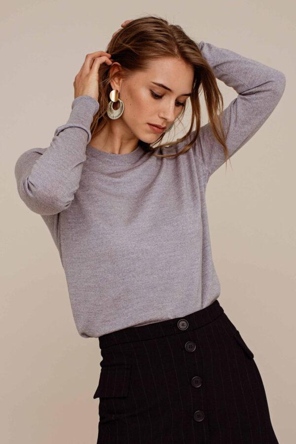 Arber Alder knitted jumper_grijs_model