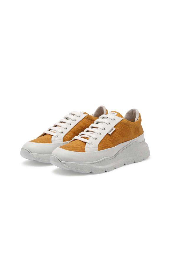 Greyderlab Sneakers Eve okergeel_dubbel