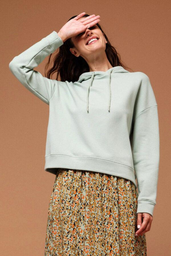 Lanius Sweater mintgroen_model